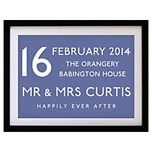 Buy Betsy Benn Wedding Destination Framed Print, Indgio, 37.7 x 48.7cm Online at johnlewis.com