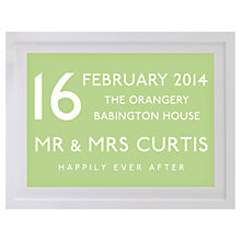 Buy Betsy Benn Wedding Destination Framed Print, White Frame, 37.7 x 48.7cm Online at johnlewis.com