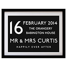 Buy Betsy Benn Wedding Destination Framed Print, Black, 37.7 x 48.7cm Online at johnlewis.com