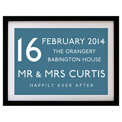Buy Betsy Benn Wedding Destination Framed Print, Diesel, 37.7 x 48.7cm Online at johnlewis.com