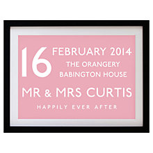 Buy Betsy Benn Wedding Destination Framed Print, Pink, 37.7 x 48.7cm Online at johnlewis.com