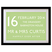 Buy Betsy Benn Wedding Destination Framed Print, Black Frame, 37.7 x 48.7cm Online at johnlewis.com