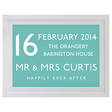 Buy Betsy Benn Wedding Destination Framed Print, Turquoise, 37.7 x 48.7cm Online at johnlewis.com