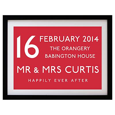 Betsy Benn Wedding Destination Framed Print, Black Frame, 37.7 x 48.7cm