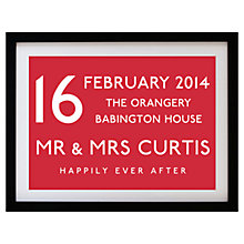 Buy Betsy Benn Wedding Destination Framed Print, Red, 37.7 x 48.7cm Online at johnlewis.com