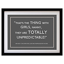 Buy Betsy Benn Personalised Quote Framed Print, Grey, 37.7 x 48.7cm Online at johnlewis.com