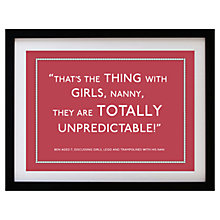 Buy Betsy Benn Personalised Quote Framed Print, Dusk Red, 37.7 x 48.7cm Online at johnlewis.com