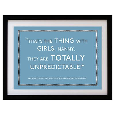 Betsy Benn Personalised Quote Framed Print, Black Frame, 37.7 x 48.7cm