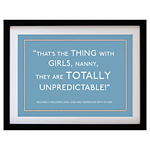 Buy Betsy Benn Personalised Quote Framed Print, Soft Blue, 37.7 x 48.7cm Online at johnlewis.com