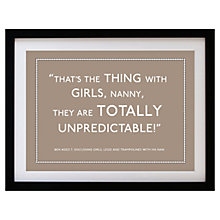 Buy Betsy Benn Personalised Quote Framed Print, Taupe, 37.7 x 48.7cm Online at johnlewis.com