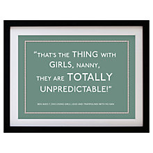 Buy Betsy Benn Personalised Quote Framed Print, Moss, 37.7 x 48.7cm Online at johnlewis.com