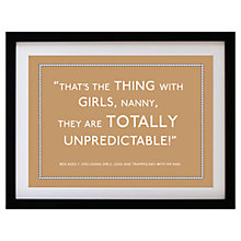 Buy Betsy Benn Personalised Quote Framed Print, Caramel, 37.7 x 48.7cm Online at johnlewis.com