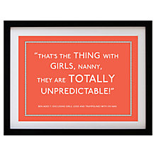 Buy Betsy Benn Personalised Quote Framed Print, Orange, 37.7 x 48.7cm Online at johnlewis.com