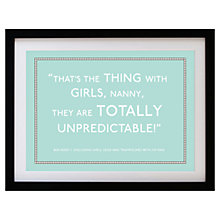 Buy Betsy Benn Personalised Quote Framed Print, Duck Egg, 37.7 x 48.7cm Online at johnlewis.com