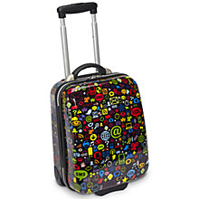 Buy Trendykid TravelKool Chat 2-Wheel Suitcase, Black Online at johnlewis.com