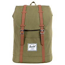 Buy Herschel Retreat Backpack, Khaki Online at johnlewis.com