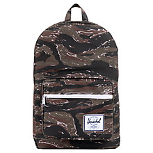 Buy Herschel Pop Quiz Tiger Backpack, Black/Brown Online at johnlewis.com