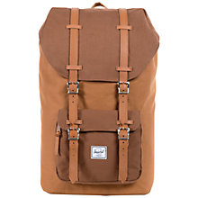 Buy Herschel Little America Backpack, Khaki Online at johnlewis.com