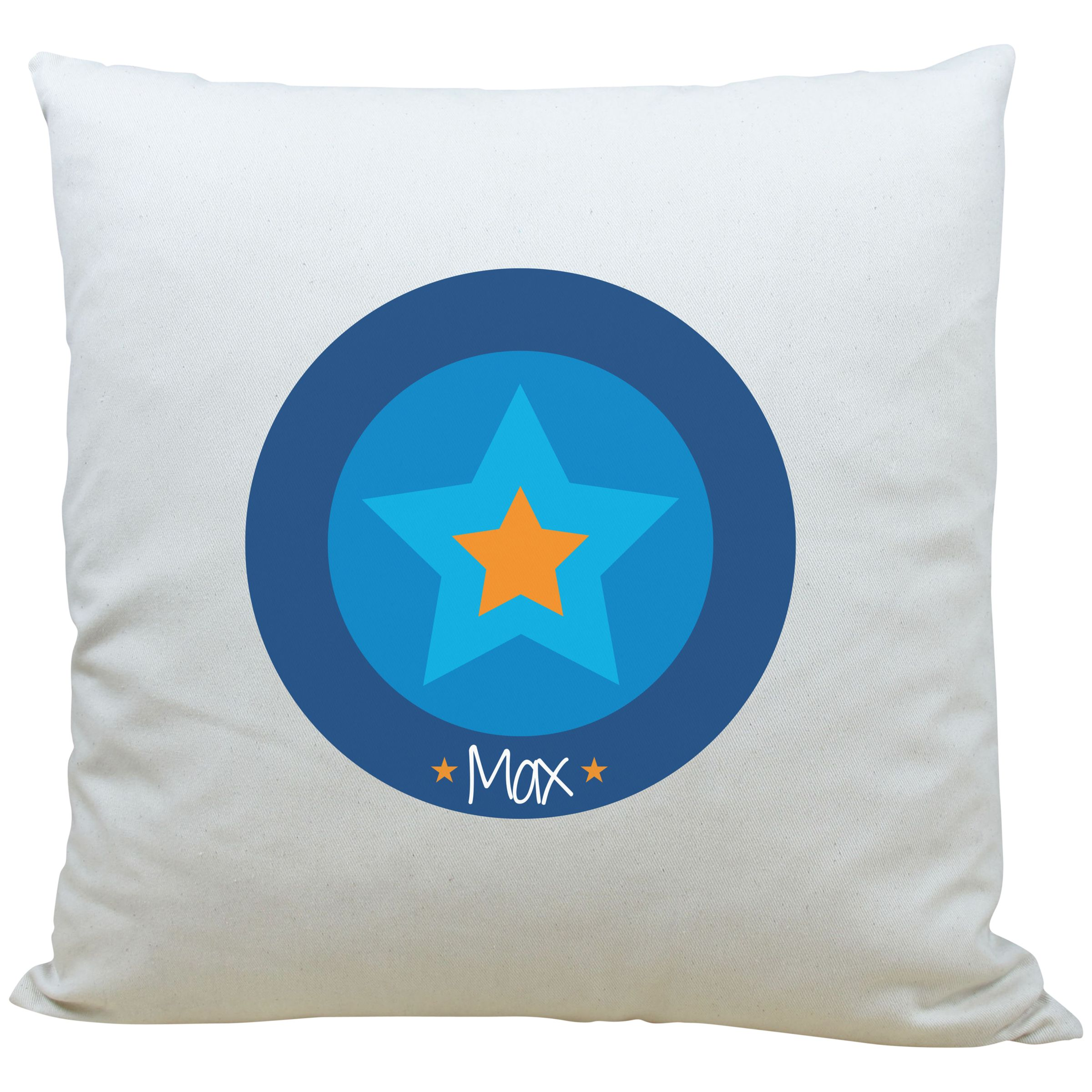A Piece Of A Piece Of Personalised Star Cushion, Blue