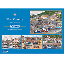 Buy Gibson & Son West Country 4 x 500 Piece Jigsaw Puzzle Set Online at johnlewis.com