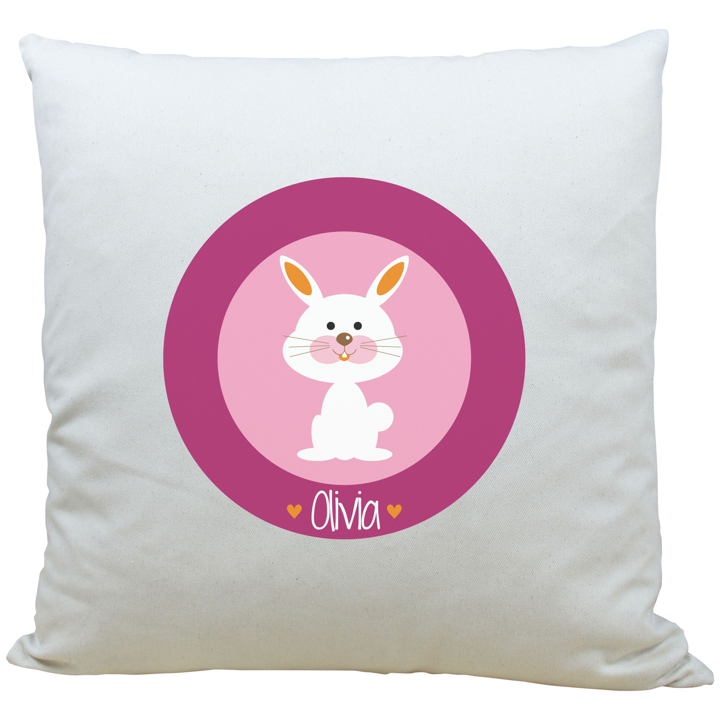 A Piece Of A Piece Of Personalised Bunny Cushion, Pink