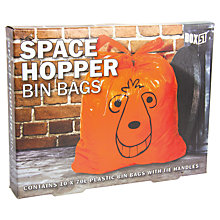 Buy Paladone Space Hopper Bin Bags, Orange Online at johnlewis.com
