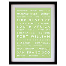 Buy Betsy Benn Personalised Destination Framed Print, Apple, 48.7 x 37.7cm Online at johnlewis.com