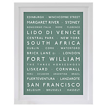 Buy Betsy Benn Personalised Destination Framed Print, Moss, 48.7 x 37.7cm Online at johnlewis.com