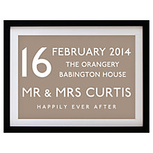 Buy Betsy Benn Wedding Destination Framed Print, Taupe, 37.7 x 48.7cm Online at johnlewis.com