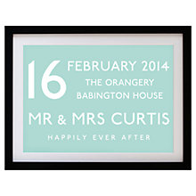 Buy Betsy Benn Wedding Destination Framed Print, Duck Egg, 37.7 x 48.7cm Online at johnlewis.com