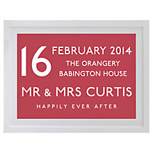 Buy Betsy Benn Wedding Destination Framed Print, Dusty Red, 37.7 x 48.7cm Online at johnlewis.com
