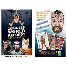 Buy Guinness World Record Trivia Playing Cards Online at johnlewis.com