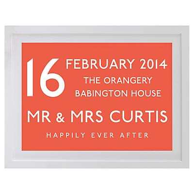 Betsy Benn Wedding Destination Framed Print, White Frame, 37.7 x 48.7cm