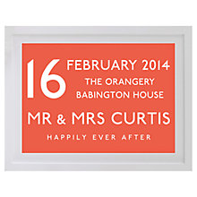 Buy Betsy Benn Wedding Destination Framed Print, Orange, 37.7 x 48.7cm Online at johnlewis.com