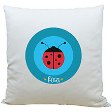 Buy A Piece Of Personalised Ladybird Cushion, Blue Online at johnlewis.com