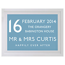 Buy Betsy Benn Wedding Destination Framed Print, Soft Blue, 37.7 x 48.7cm Online at johnlewis.com