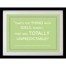 Buy Betsy Benn Personalised Quote Framed Print, Black Frame, 37.7 x 48.7cm Online at johnlewis.com