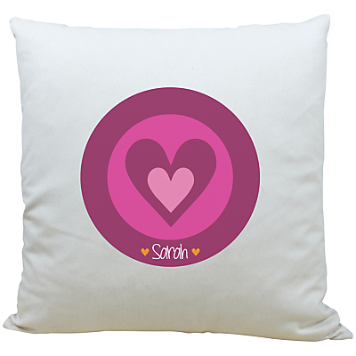 A Piece Of Personalised Heart Cushion, Pink
