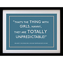 Buy Betsy Benn Personalised Quote Framed Print, Diesel, 37.7 x 48.7cm Online at johnlewis.com