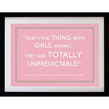 Buy Betsy Benn Personalised Quote Framed Print, Pink, 37.7 x 48.7cm Online at johnlewis.com