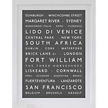 Buy Betsy Benn Personalised Destination Framed Print, Grey, 48.7 x 37.7cm Online at johnlewis.com