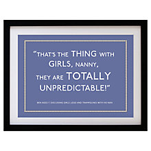 Buy Betsy Benn Personalised Quote Framed Print, Indigo, 37.7 x 48.7cm Online at johnlewis.com