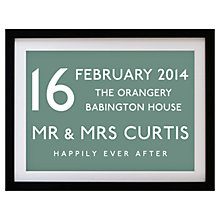 Buy Betsy Benn Wedding Destination Framed Print, Moss, 37.7 x 48.7cm Online at johnlewis.com