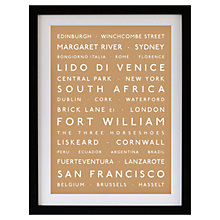 Buy Betsy Benn Personalised Destination Framed Print, Caramel, 48.7 x 37.7cm Online at johnlewis.com