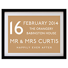 Buy Betsy Benn Wedding Destination Framed Print, Caramel, 37.7 x 48.7cm Online at johnlewis.com