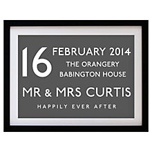 Buy Betsy Benn Wedding Destination Framed Print, Grey, 37.7 x 48.7cm Online at johnlewis.com