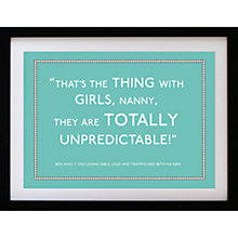 Buy Betsy Benn Personalised Quote Framed Print, Turquoise, 37.7 x 48.7cm Online at johnlewis.com