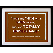 Buy Betsy Benn Personalised Quote Framed Print, Tan, 37.7 x 48.7cm Online at johnlewis.com