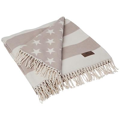 Lexington Icons Flag Throw, Beige