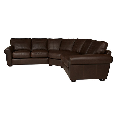 Buy John Lewis Madison Large Leather Corner Sofa Colorado Brown John Lewis